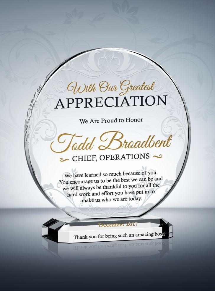 68 best appreciation and thank you gift plaques images on