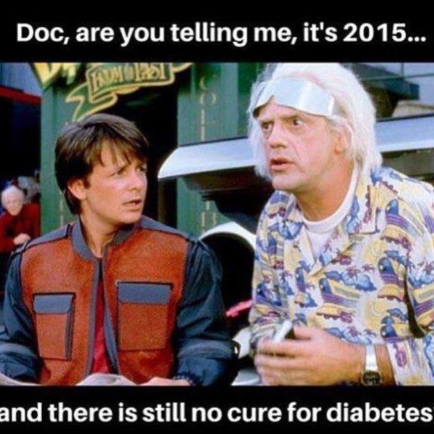 2015 parecia tão distante... .. Verdade que não se tem a cura mas como houve avanço no tratamento.  Avanço nos tipos de medicamentos nos tipos de monitoramento tipos de insulina tipos de agulha tipos de seringa. Já existem pesquisas sobre pâncreas artificial formas de tentar evitar a atividade auto-imune que leva ao diabetes.  Ufa! Muito já se evoluiu para melhorar a qualidade de vida dos diabéticos e MUITO ainda se estuda para chegar próximo a cura!! Otimismo sempre   ##endocrinologia…