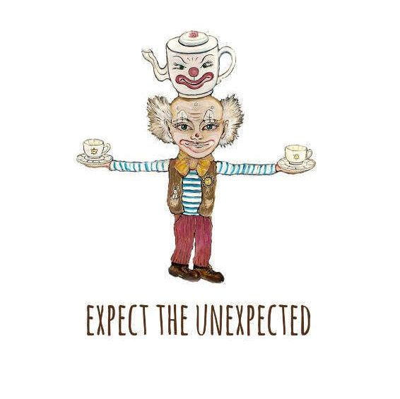 Expect the unexpected. Gift for him. Gift for her. Texted image. Digital print. by Goldenpurse on Etsy