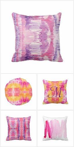 Pink Purple Throw Pillows