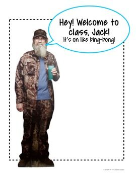 "Hey! Free Uncle Si #DuckDynasty ""Welcome to Class"" Sign, Jack!"