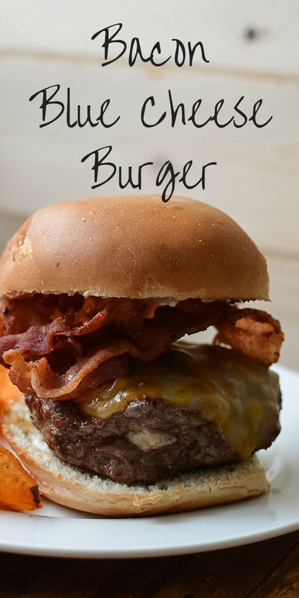 A stuffed burger filled with blue cheese and topped with bacon.  This bacon blue cheeseburger recipe is perfect for the grill this summer.