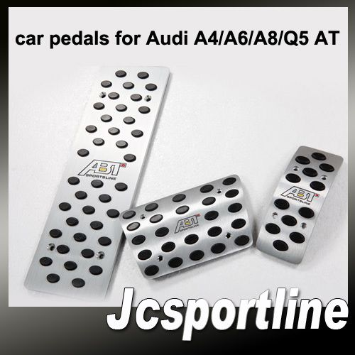 Модель Автомобиля Педаль для Audi A4/A6/A8/Q5 AT ABT Style алюминиевый сплав тормозные накладки на педали Авто Ног Отдых Педаль Плиты Бесплатная Доставка