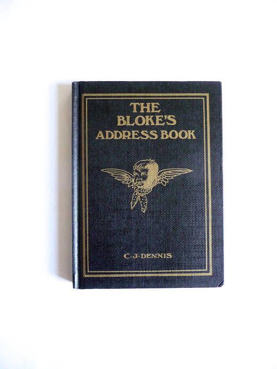 The Bloke's Address Book CJ Dennis Poems Hal Gye