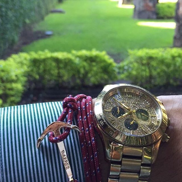 """@evmoreno sporting #TheArt engraved anchor bracelet from @dappervigilante. The Art can be worn dressed up with a button up and nice watch or worn more casual with a polo and khakis.  Buy today and receive 20% off when you use the code """"novembersale"""" at the check out.  Go to bit.ly/DapperVigilante to order.  #DapperVigilante"""