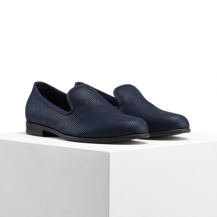 Plated Navy - Duke & Dexter - Men's Luxury Loafers - Men's Slippers
