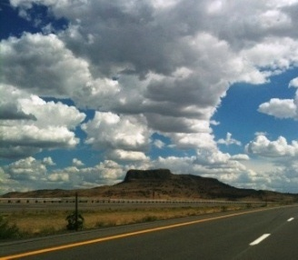 Clouds over Wagon Mound, NM