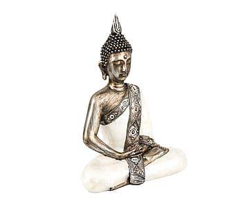 Figura decorativa de Buda sentado en resina