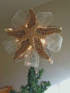 starfish christmas tree topper