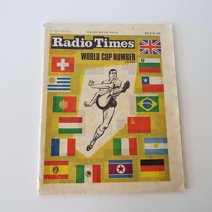 Excited to share the latest addition to my #etsy shop: Rare Vintage 1966 Radio Times Magazine World Cup Edition Football Soccer Memorabilia Collectable Bobby Charlton http://etsy.me/2n9FNJI #vintage #collectables #radiotimesmagazine #worldcupedition #football #soccer #