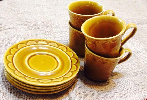 Vintage 1970s Homer Laughlin teacup mug and by HelpingFriendlyGrp