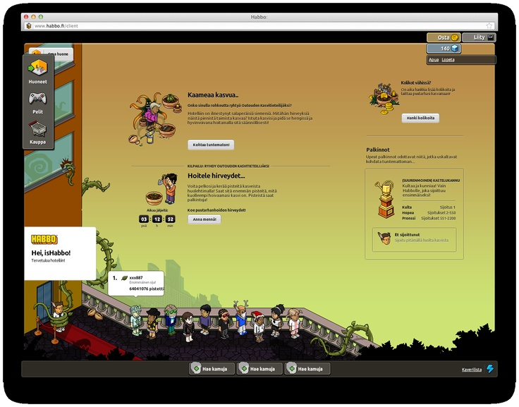 Background of Habbo Hotel (client page) Monsters Plants