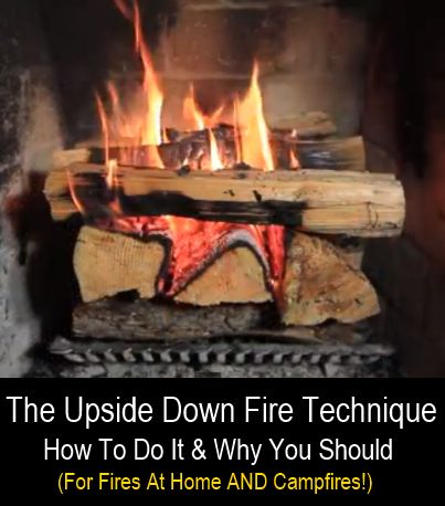 So what is an upside down fire and why should you be using this technique to light your fires? With the traditional way of building a fire most people start with a small pile of kindling and then add larger logs as the fire gets going. With the upside...