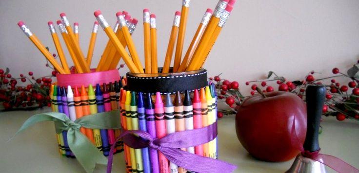 Vissza a suliba: 8 ötletes DIY ceruzatartó