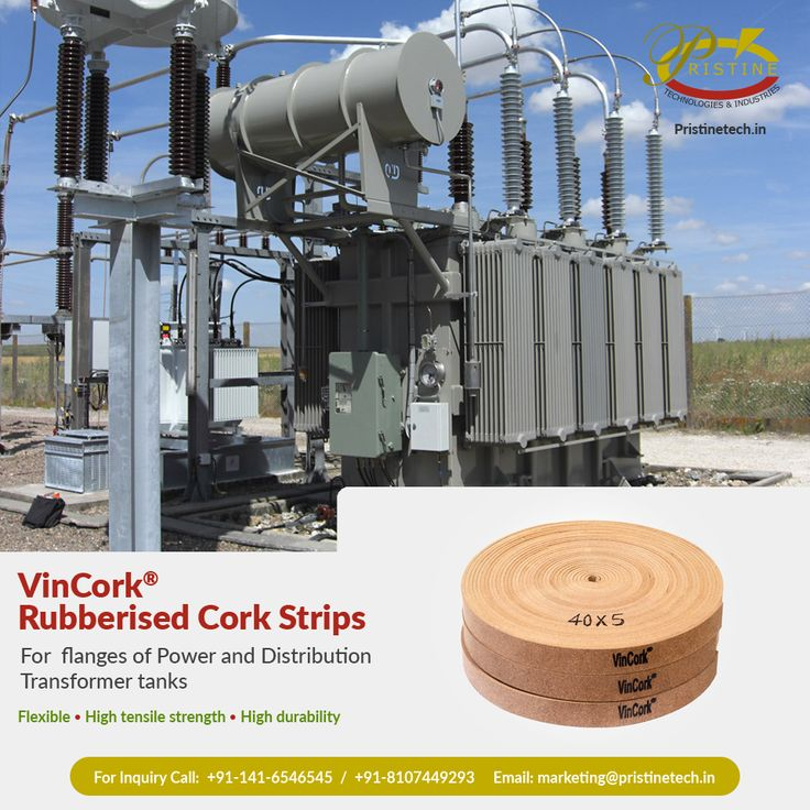 VinCork® Rubberised Cork Strips best For flanges of Power