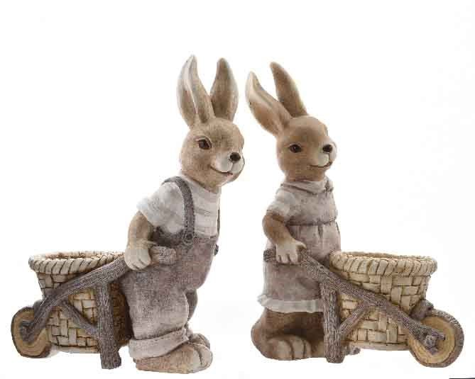 Húsvéti nyuszi talicskával