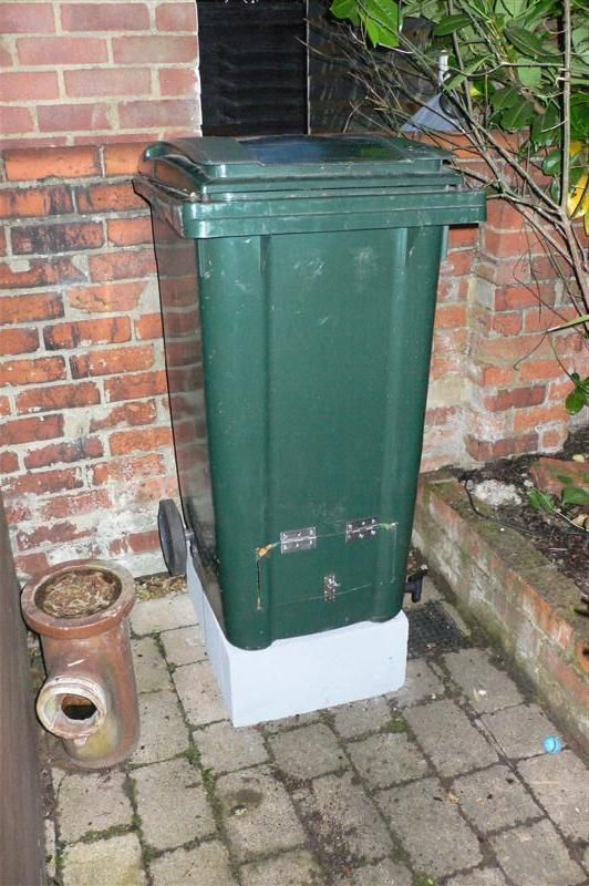 Our council runs a green waste collection, for which they provide each household with a green recycling bin. This bin is for garden waste, you cannot put any other compostable ...