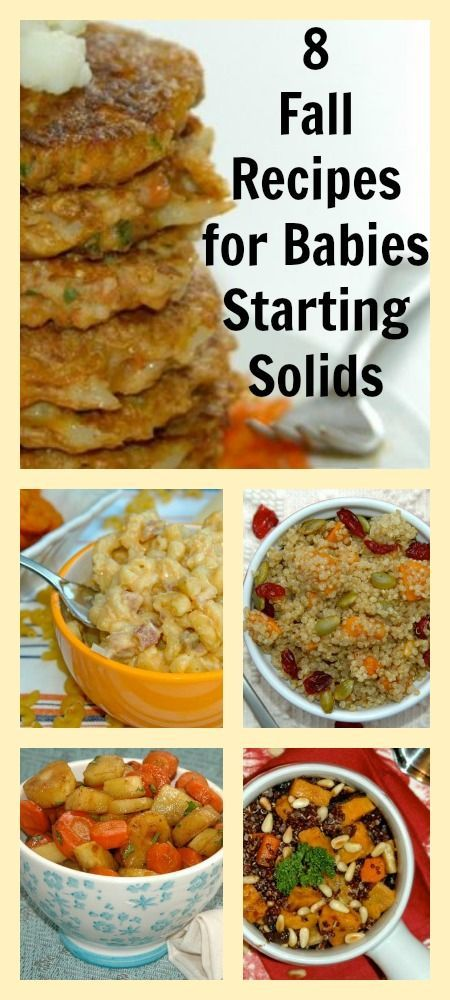 8 fall recipes for babies starting solid foods