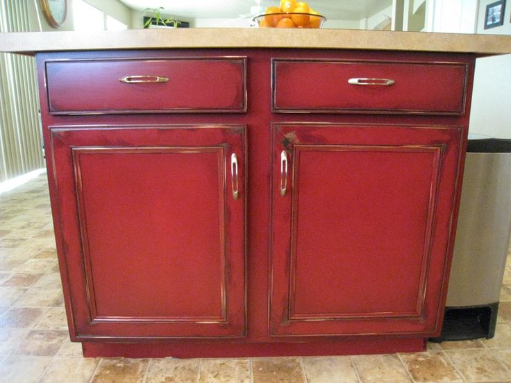 red distressed kitchen cabinets 1000 images about country kitchen on chef 4561