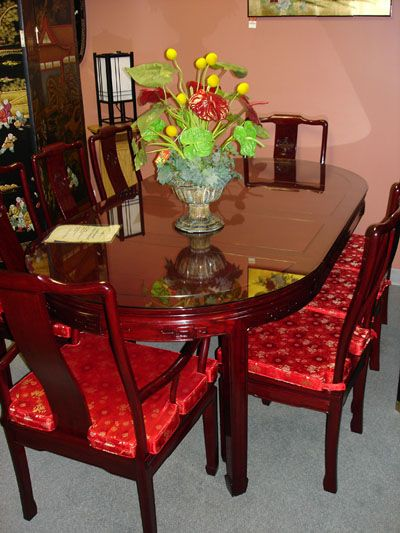 Rosewood Longlife Oval Dining Set   Rosewood Dining Furniture   Rosewood Dining Sets   Rosewood Chairs   Rosewood Table   Chinese   Asian   Oriental Furniture