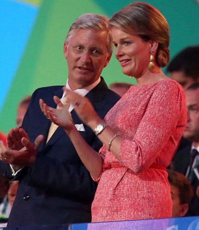 Opening Ceremony  Rio 2016   Queen Mathilde and King Philipe of Belgium