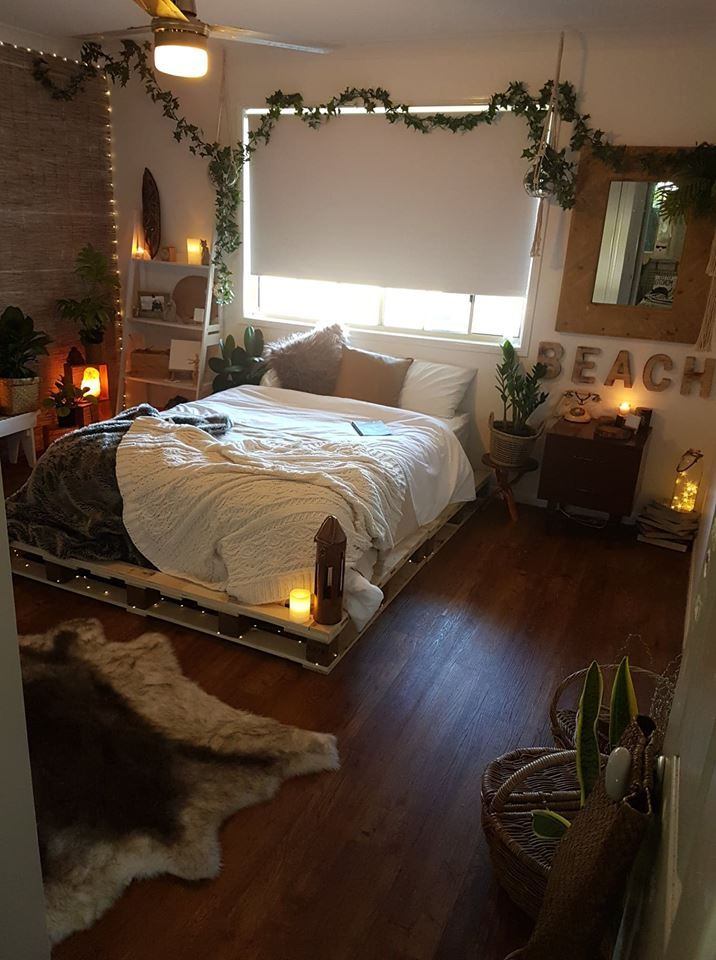 cheys pallet bed   Luxurious bedrooms, Aesthetic bedroom ... on Pallet Bed Room Ideas  id=15605
