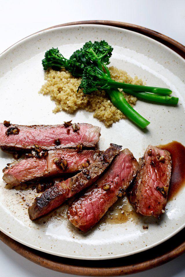 Pan-Seared Garlic Rib-Eye Steak