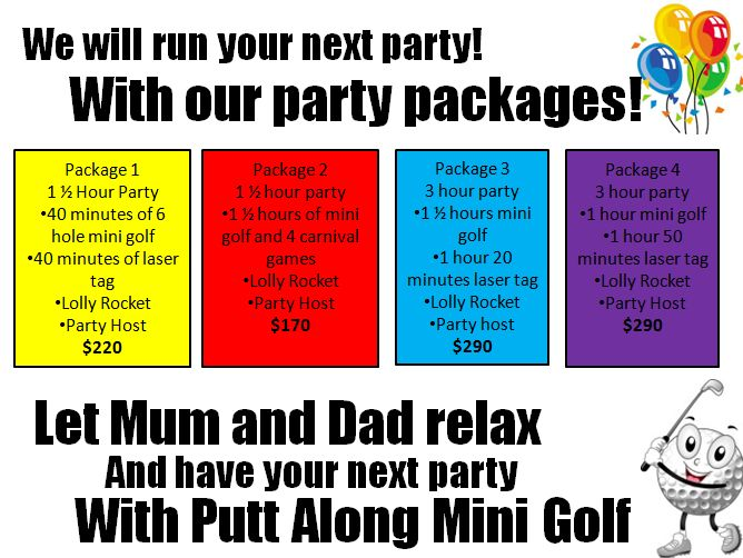 Our party packages