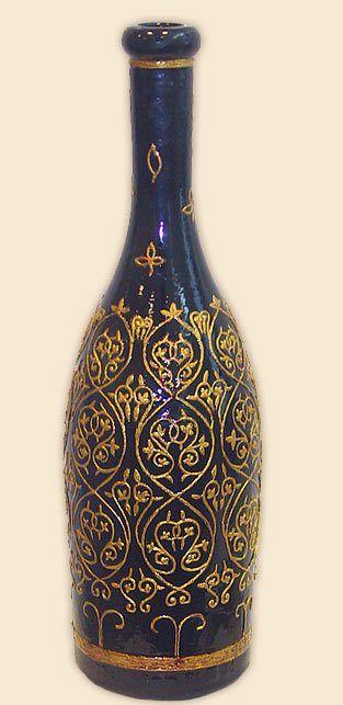 роспись коричневой бутылки - Поиск в Google