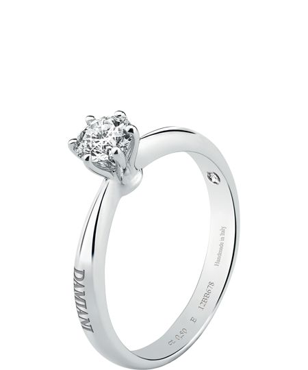 Damiani ring (diamond & white gold/platinum) - Elettra Collection © Damiani