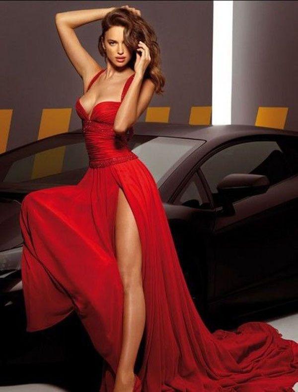 Date Night Red Sexy Maxi Dress