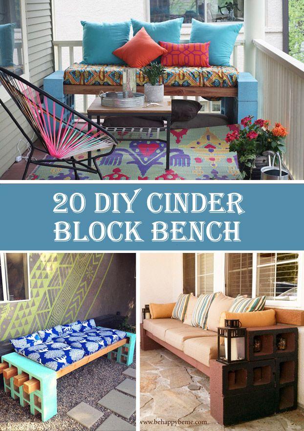 20 Gorgeous DIY Cinder Block Bench