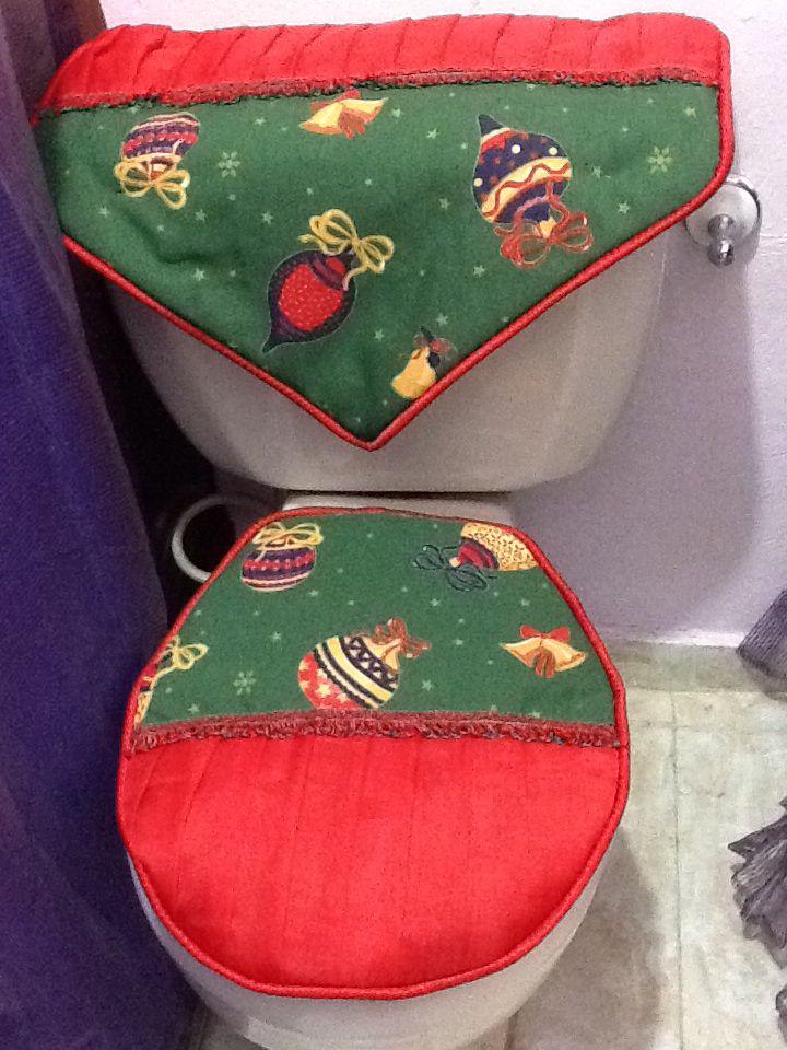Santa Chair Covers Sets Folding Egypt Juego De Baño Navidad | Juegos Pinterest Seat Covers, Toilet And Patchwork