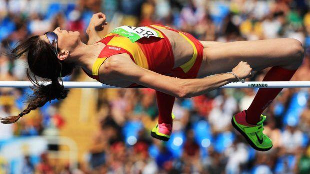 Ruth Beitia saltando en los Juegos de Río 2016 (Foto: Reuters)