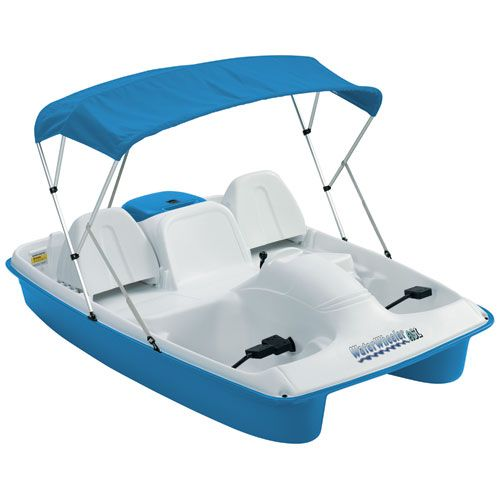 Boat Finder, Accecoris and Parts: Pedal Boat with Canopy Sun Dolphin Water Wheeler A...