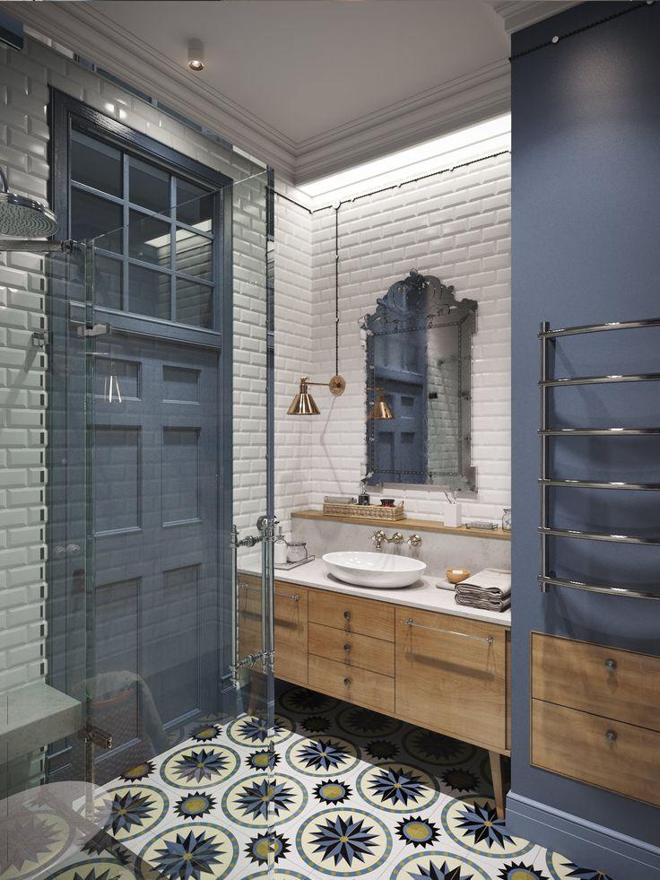 Интерьер квартиры 100 кв. м. состоит из: большой кухни-столовой, совмещенной с общей гостиной, двух спальных комнат, а также гостиная, предназначенная для личного отдыха.