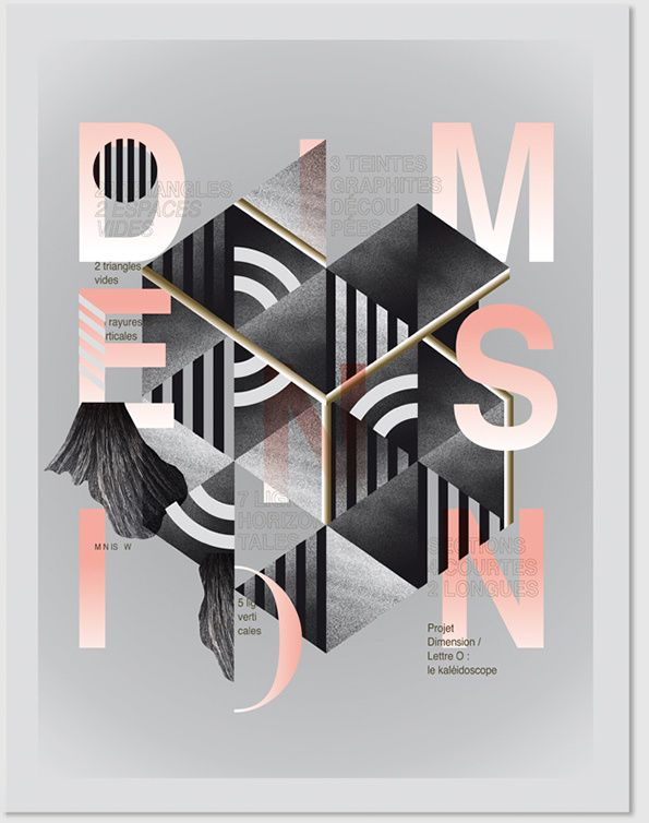 It's Nice That : Graphic Design: Letters morph into objects in this striking, abstract typographic project