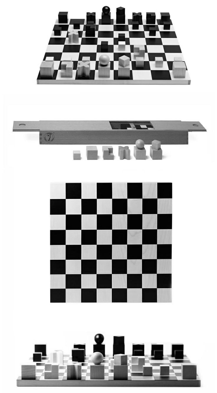 The Bauhaus was known for its minimalist designs, and the Naef Bauhaus Chess Set is no exception. Brought to life by Josef Hartwig in 1923, these simple, ingenious pieces are literal symbols of the moves that can be performed with each, a perfect example of the school's form follows function aesthetic.  #bauhaus #design #chess #blackandwhite #hartwig