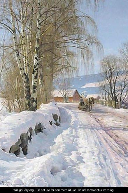 From Skogli, Lillehammer - Peder Monsted. http://www.annabelchaffer.com/ oil on canvas