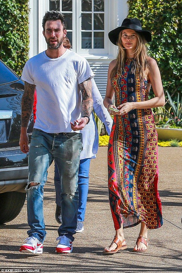 Perfect pair: Adam Levine and Behati Prinsloo spent the weekend house hunting