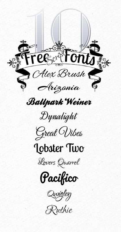 10 Free Script Fonts from Font Squirrel ~~ {10 fonts free for Personal use AND…
