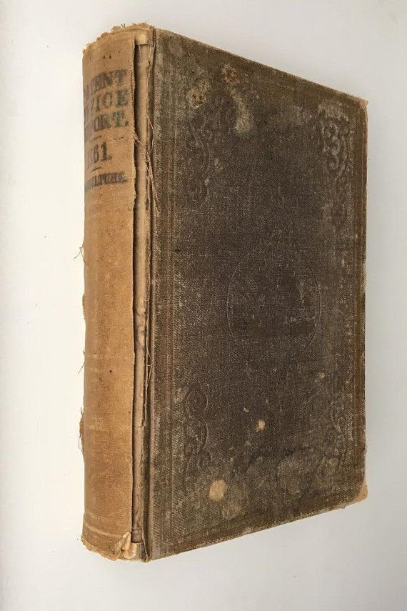 Antique US Patent Office Report 1861 Agriculture by artizmo