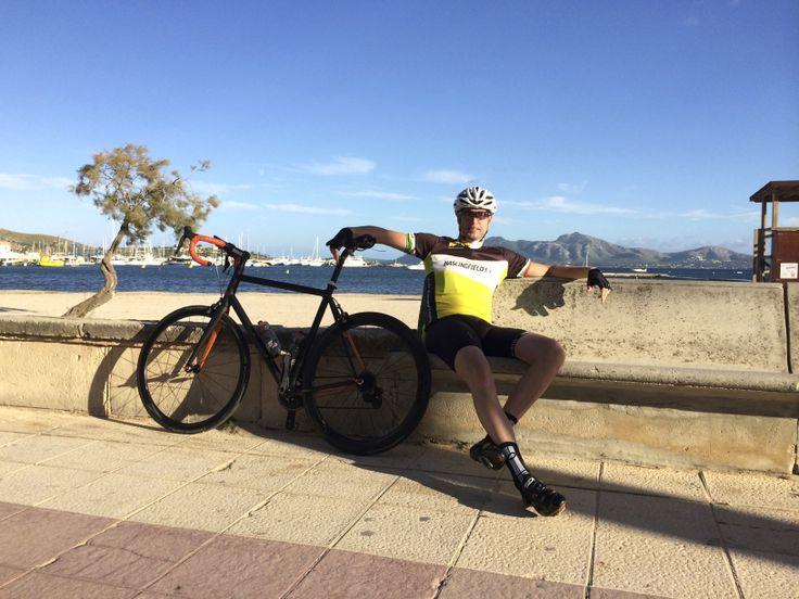 Sun in wintertime. Cycling in Mallorca