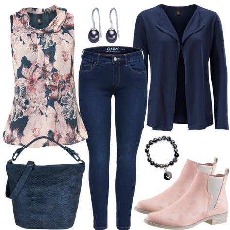Leisure Outfits: PinkBlueten at FrauenOutfits.de