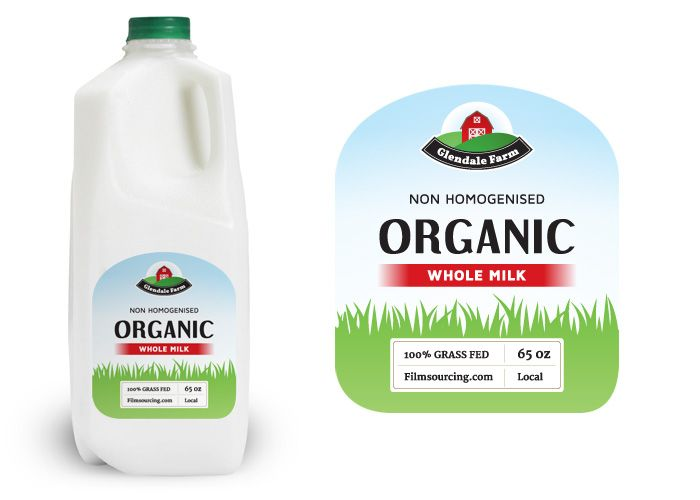 Organic Milk Label - FREE Art Department Resources for film. This label is perfect for a breakfast scene of a health and nutrition enthusiast, a new mother or anyone with alternative hippie tendencies.  #filmmaking #resources #design
