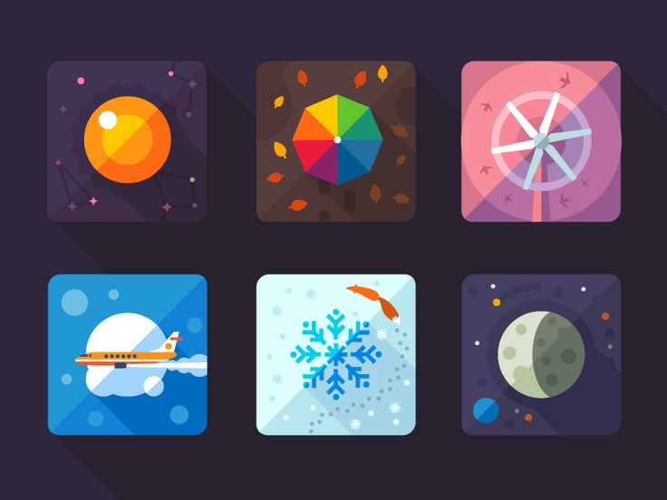 Weather flat icon by Oleg Beresnev