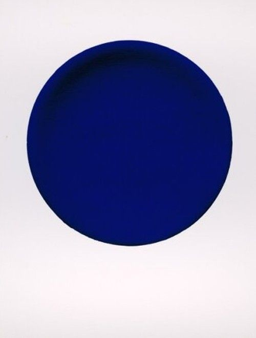 Blue art circle by Anish Kapoor, Untitled, 1996. Midnight blue pigment on aluminium