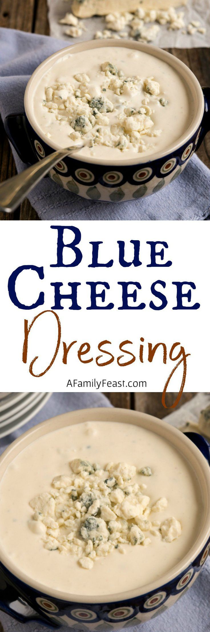 Homemade Blue Cheese Dressing - A really delicious Blue Cheese salad dressing you can make at home! Perfect for salads, with buffalo wings or as a dip.
