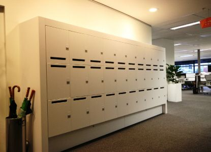 Activelocker #interiors #commercial #lockers #design #architecture #white #storage