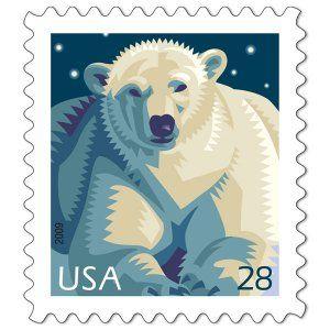 Polar bear postage stamp - USA